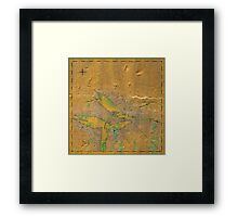 Mythic Map 2 Framed Print