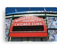 Wrigley Field Chicago Canvas Print