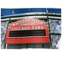 Wrigley Field Chicago Poster