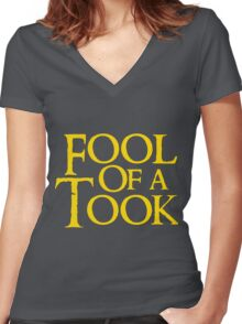 Tookish Fools Golden Women's Fitted V-Neck T-Shirt