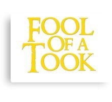 Tookish Fools Golden Canvas Print