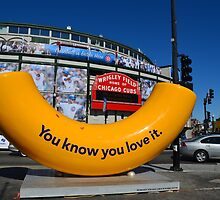 Wrigley Field Chicago with Art Piece  by Jonathan Stafford