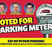 Yarraville and Seddon say No to Parking Meters by darlingbelle