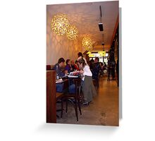 """Coffee Shop . ."" Greeting Card"