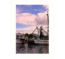 Tarpon Springs Docks Art Print