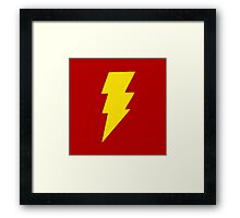 Yellow bolt. Framed Print