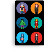 8Bit The Avengers Canvas Print