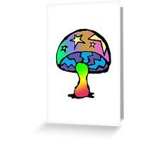 Rainbow Mushroom (Stars) Greeting Card