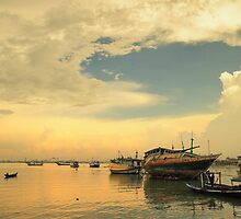 Traditional harbour in Kamal, Madura Island in Indonesia by Ismail Basymeleh