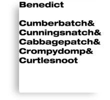 Benedict Cumberbatch wordplay Canvas Print