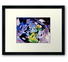 Alice Down the Rabbit Hole Framed Print