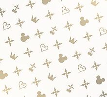 Kingdom Hearts Slanted Gold Pattern by destinyislands