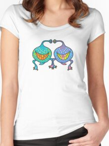 Mr. and Mrs. Blob Monsters Women's Fitted Scoop T-Shirt