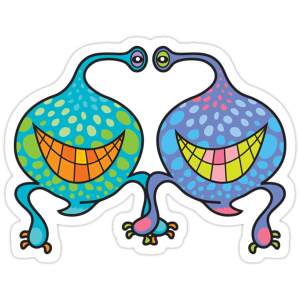 Mr. and Mrs. Blob Monsters by fatfatin