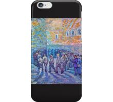 'Prisoners Walking The Round' by Vincent Van Gogh (Reproduction) iPhone Case/Skin