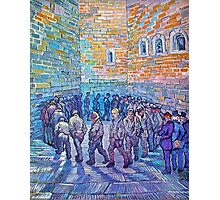 'Prisoners Walking The Round' by Vincent Van Gogh (Reproduction) Photographic Print