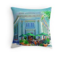 Let's Do Lunch at the Sidewalk Cafe Throw Pillow