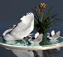 Swan's Lake by Lisa  Weber