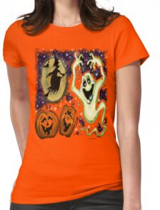 Spooky Womens Fitted T-Shirt