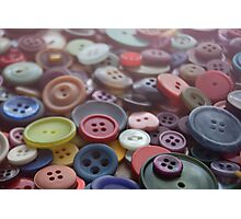 Button Collection Photographic Print