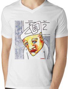Crying Boy Mens V-Neck T-Shirt