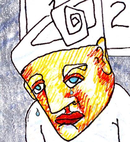 Crying Boy Sticker