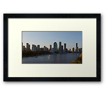 Brisbane River Framed Print