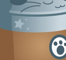Cute Cat Coffee: Decaff Cat Sticker