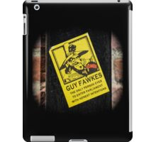 Guy Fawkes Sign Spotted in York iPad Case/Skin