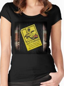 Guy Fawkes Sign Spotted in York Women's Fitted Scoop T-Shirt