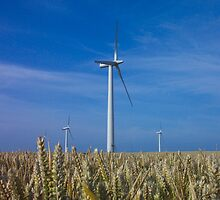 Wind Turbines near Easington by Christopher Hall