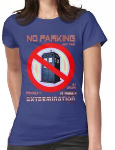 Dalek No Parking Sign Mk.2 Womens Fitted T-Shirt
