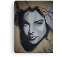 girls face Canvas Print