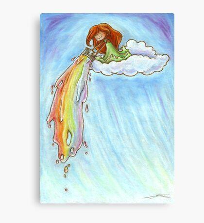 Colour the sky Canvas Print