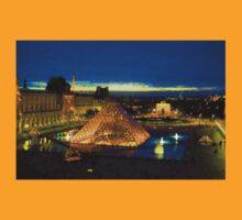 Impressions of Paris - Louvre Pyramid Blue Hour T-Shirt