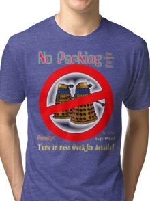 Doctor Who No Parking Sign Mk.2 Tri-blend T-Shirt