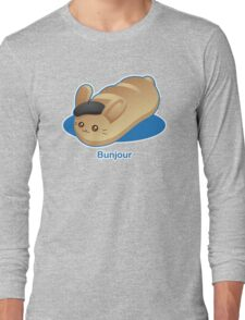 Bunjour -  Cute French Bread Bunny Pun Long Sleeve T-Shirt