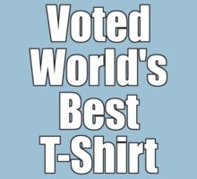 Ironic Tee - Voted World's Best T-Shirt Kids Clothes