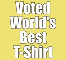 Ironic Tee - Voted World's Best T-Shirt Kids Tee