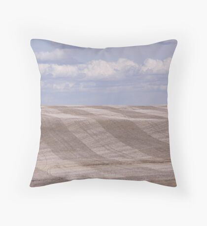 Spring Hillside with Clouds Throw Pillow