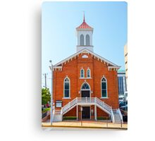 The Dexter avenue King Memorial Baptist church, where Martin Luther King Jr. worked, Montgomery, AL, USA Canvas Print