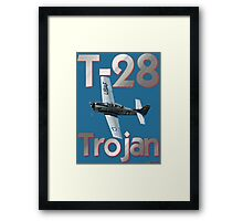 North American T-28 Trojan T-shirt Design Framed Print