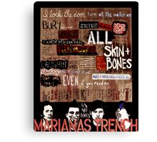 Marianas Trench Skin and Bones Canvas Print