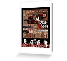Marianas Trench Skin and Bones Greeting Card