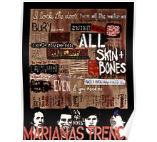 Marianas Trench Skin and Bones Poster