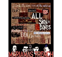 Marianas Trench Skin and Bones Photographic Print