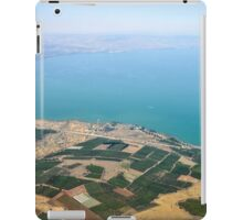 Aerial view of the Sea Of Galilee, Israel  iPad Case/Skin
