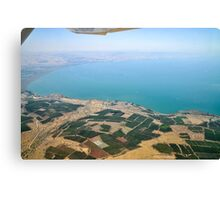 Aerial view of the Sea Of Galilee, Israel  Canvas Print