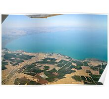 Aerial view of the Sea Of Galilee, Israel  Poster