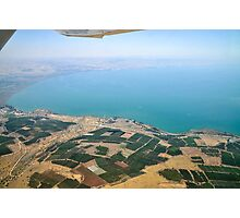 Aerial view of the Sea Of Galilee, Israel  Photographic Print